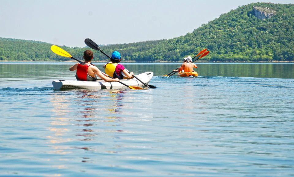 Kayaking Conevo Dam Lake Bulgaria