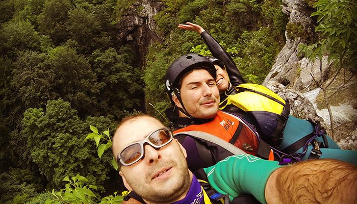 Canyoning near Varna Bulgaria